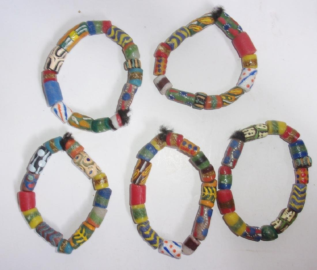 5 vintage and antique trade beads