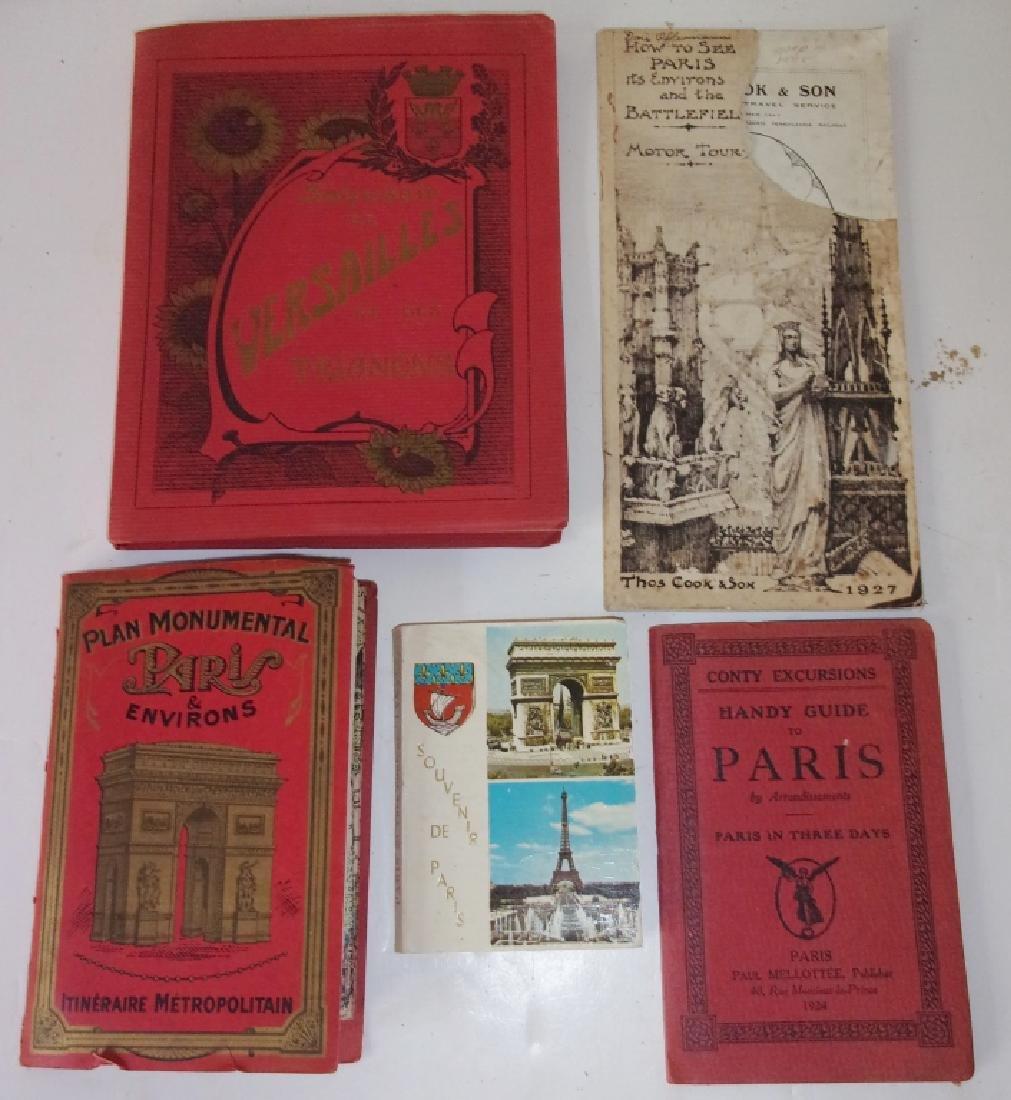 9 piece Paris paper  lot of booklets/brochures