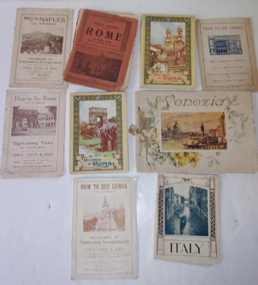 9 piece Italy Rome paper  lot booklets/brochures
