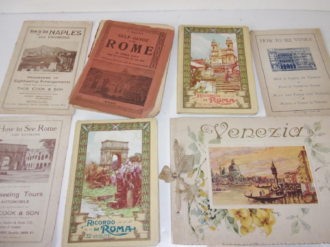 9 piece Italy Rome paper  lot booklets/brochures - 2