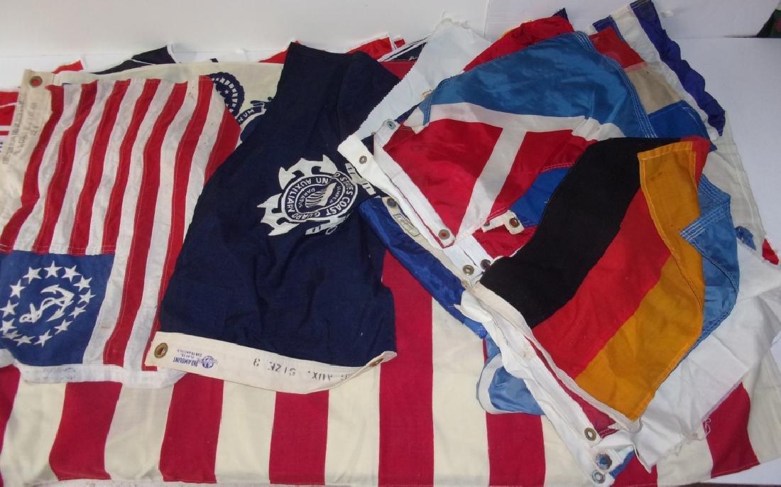 40  flags including Unites States Coast Guard - 2