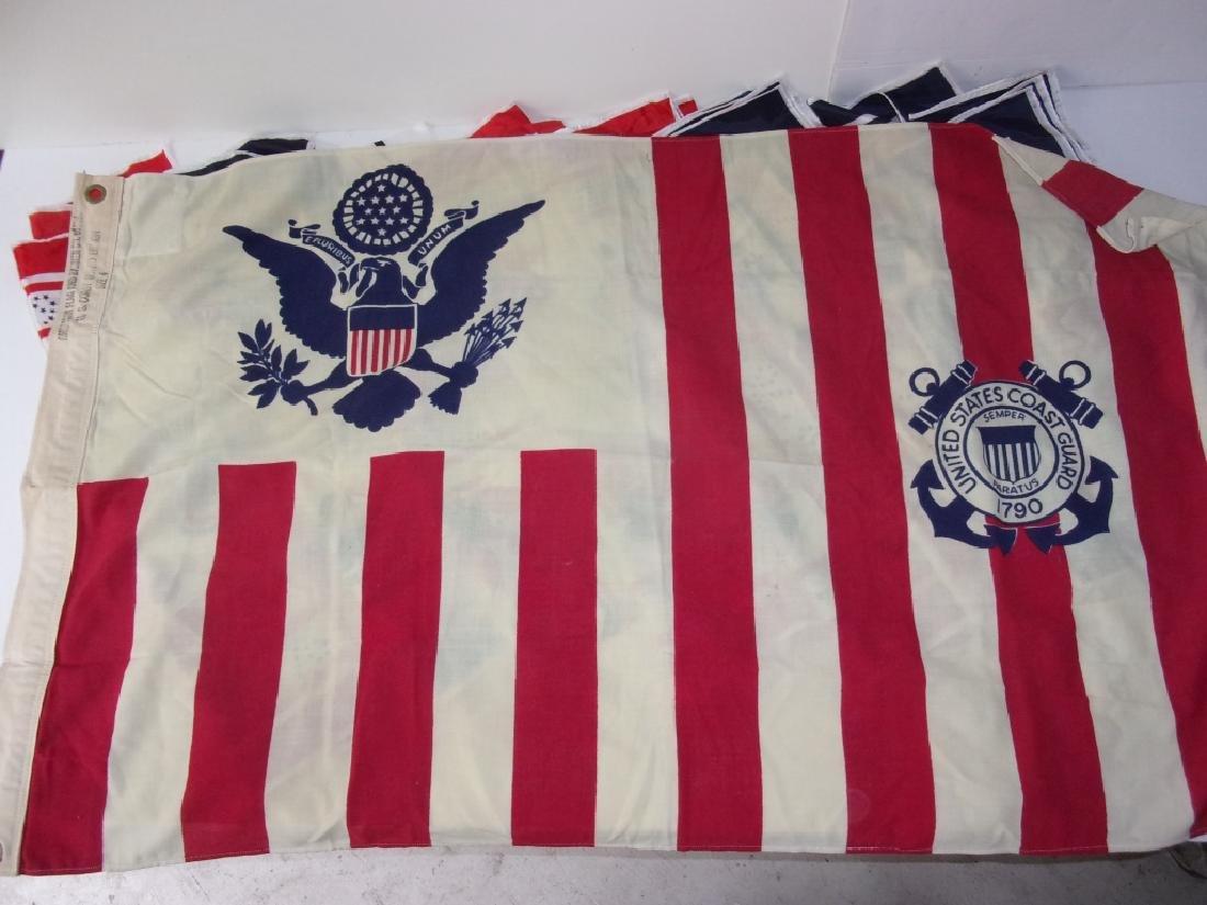 40  flags including Unites States Coast Guard - 3