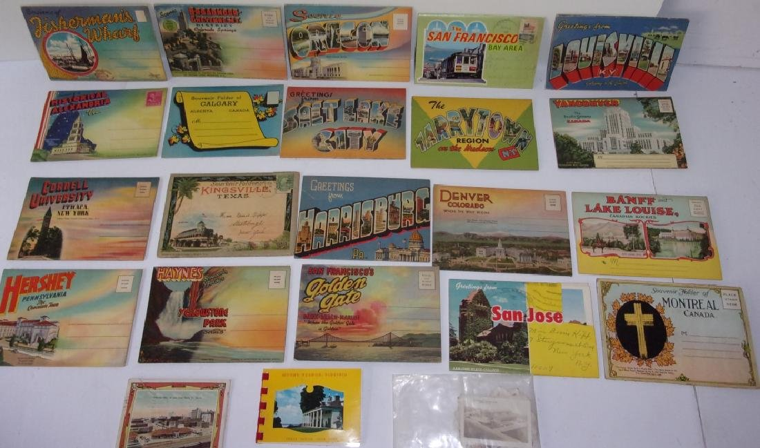 Collection of 23 souvenir postcards