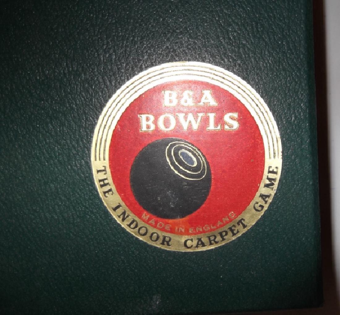 B & A carpet bowls set - 3