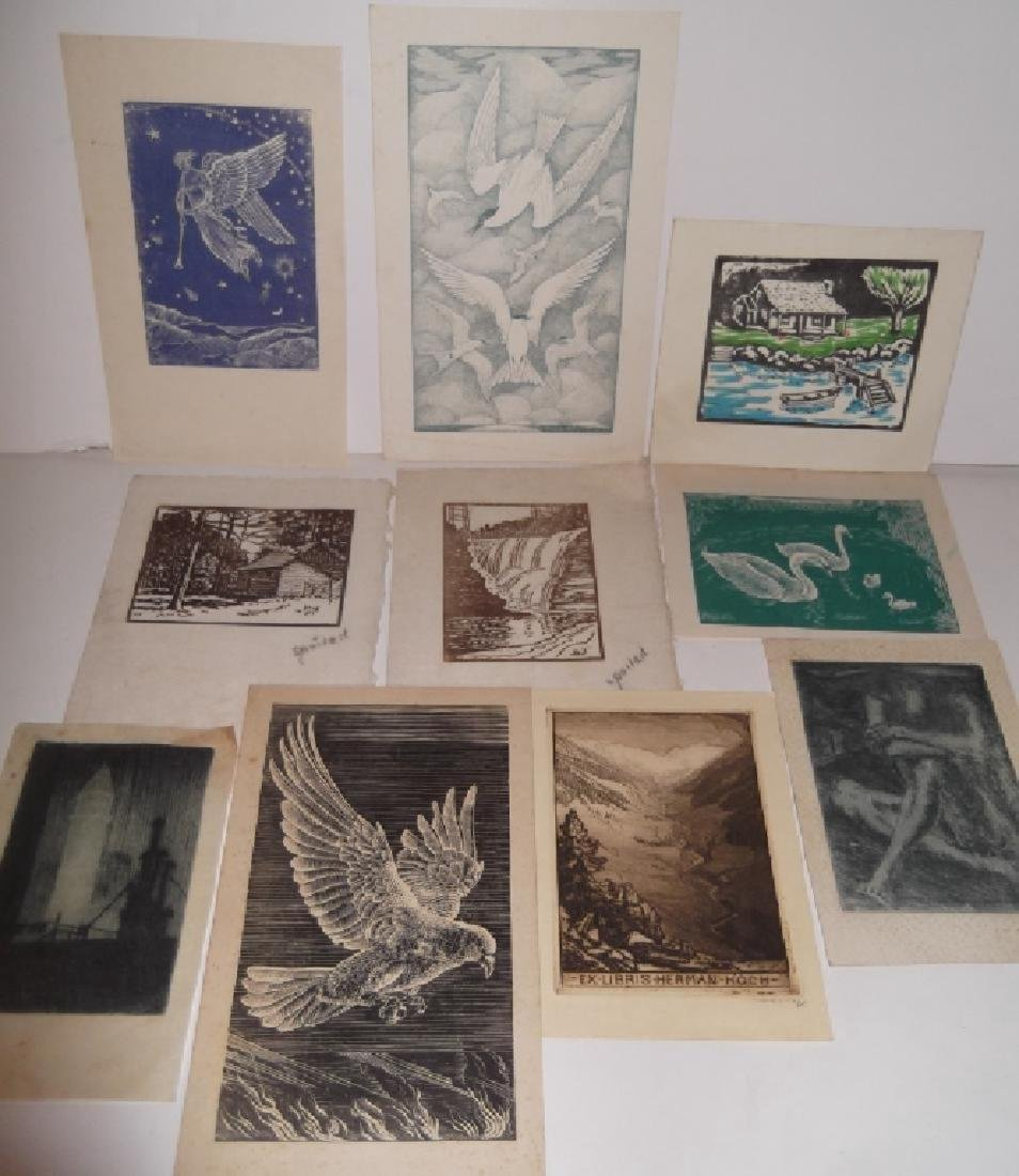11 woodblock prints
