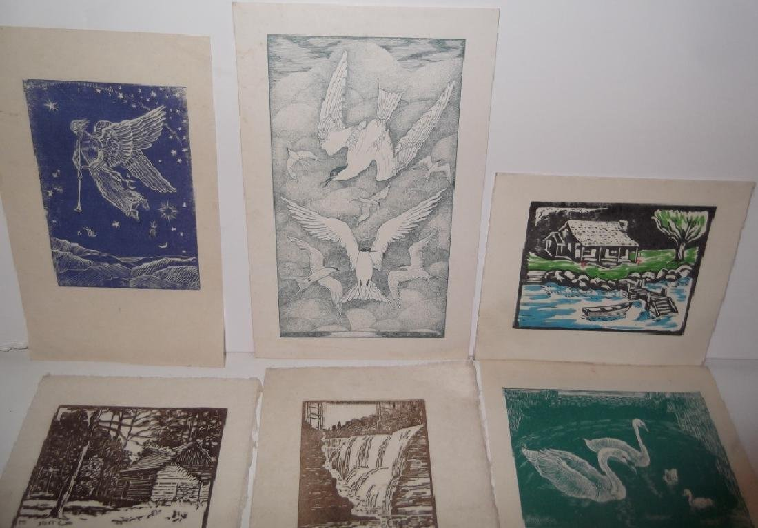 11 woodblock prints - 2