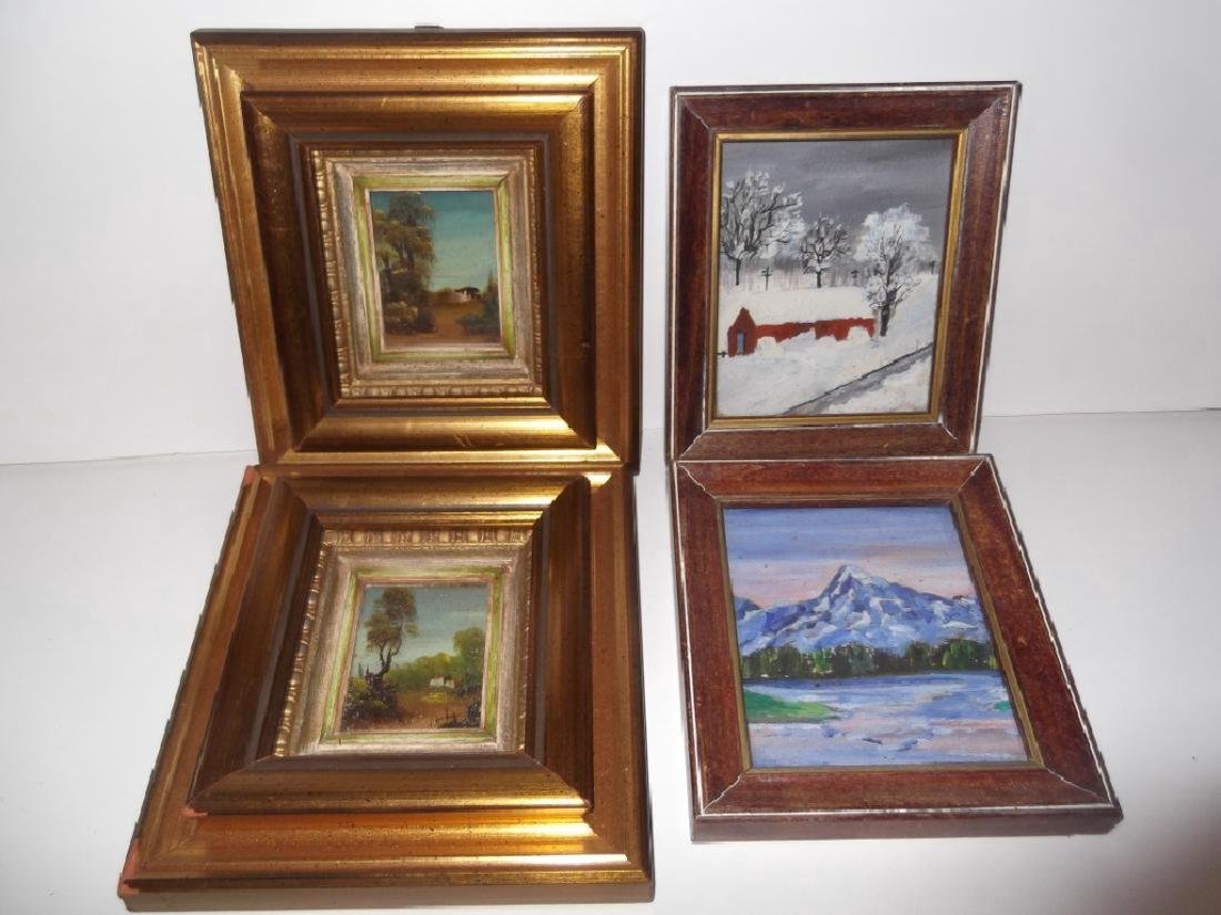 4 small landscape oil paintings