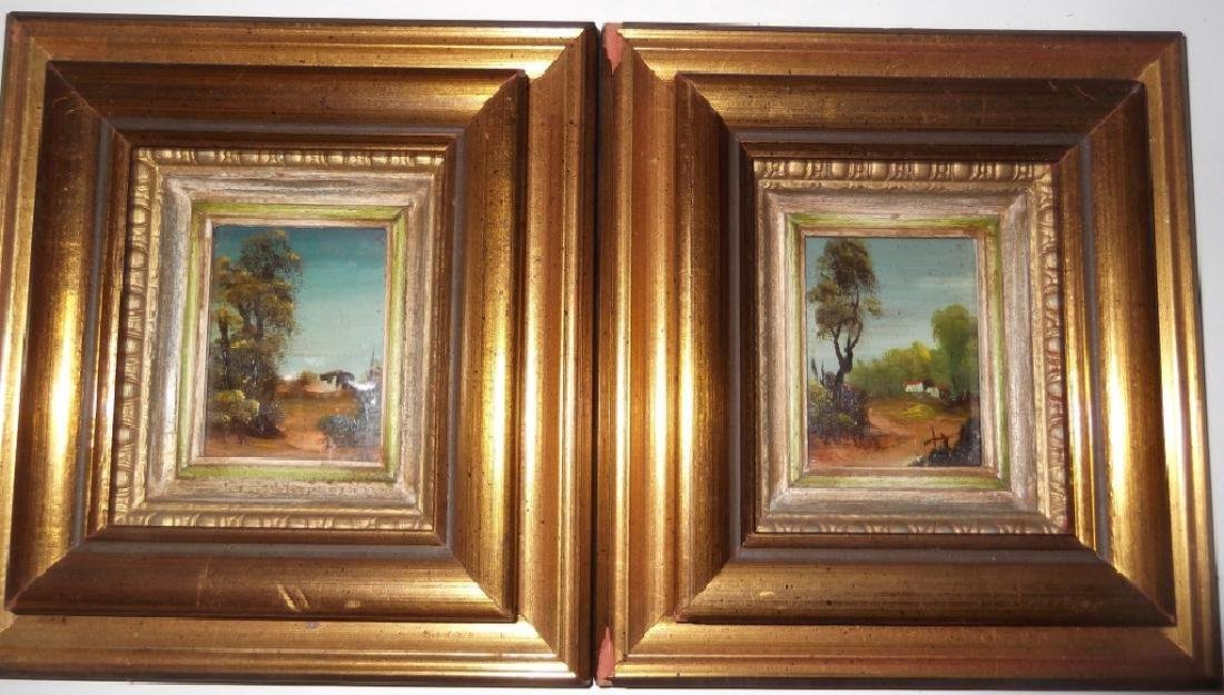 4 small landscape oil paintings - 2
