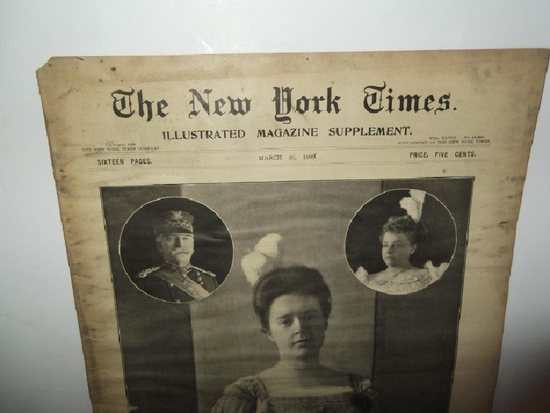 8 late 1800's/1900's newspapers - 10