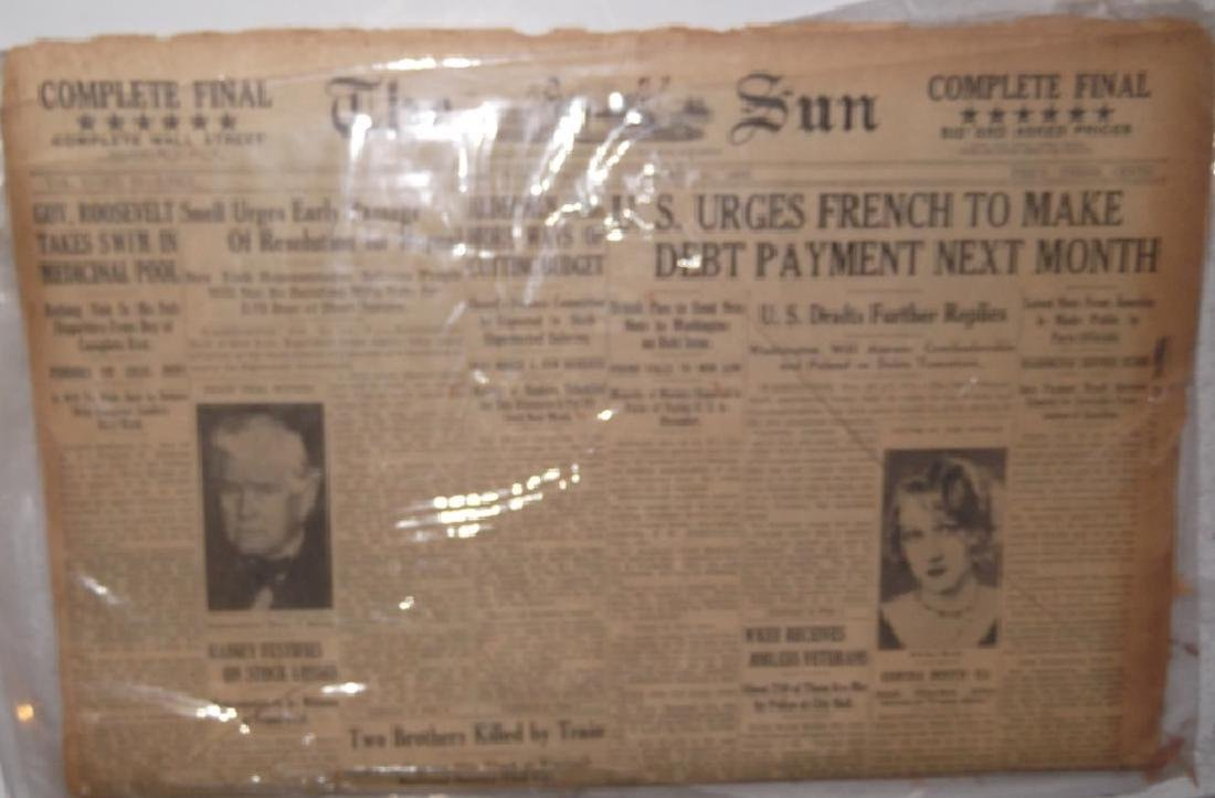 8 late 1800's/1900's newspapers - 4