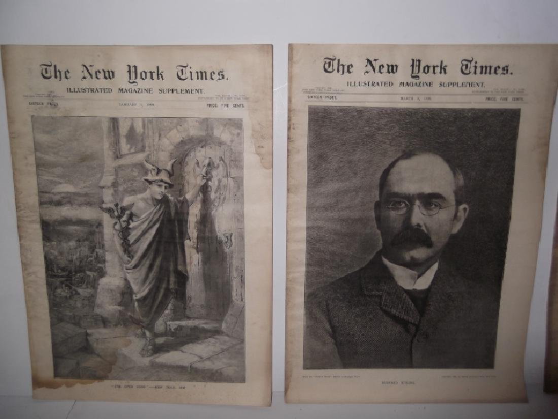 8 late 1800's/1900's newspapers - 7