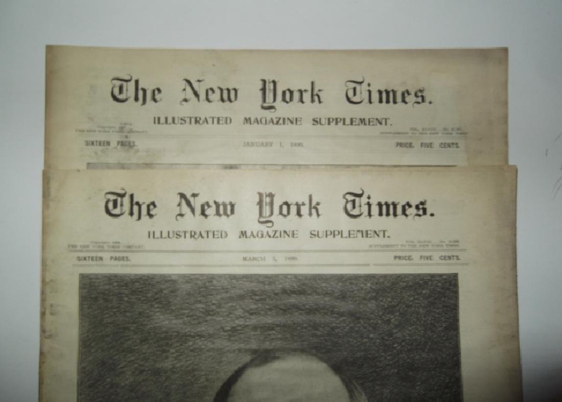 8 late 1800's/1900's newspapers - 8
