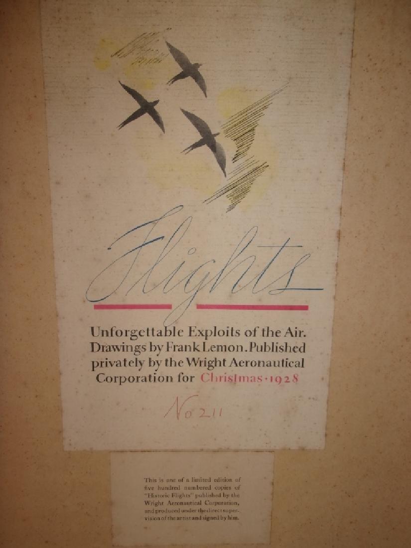 "6 ""Flights"" prints by Frank Lemon - 4"