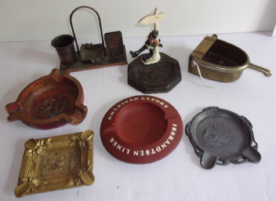 7 antique & vintage advertising ashtray