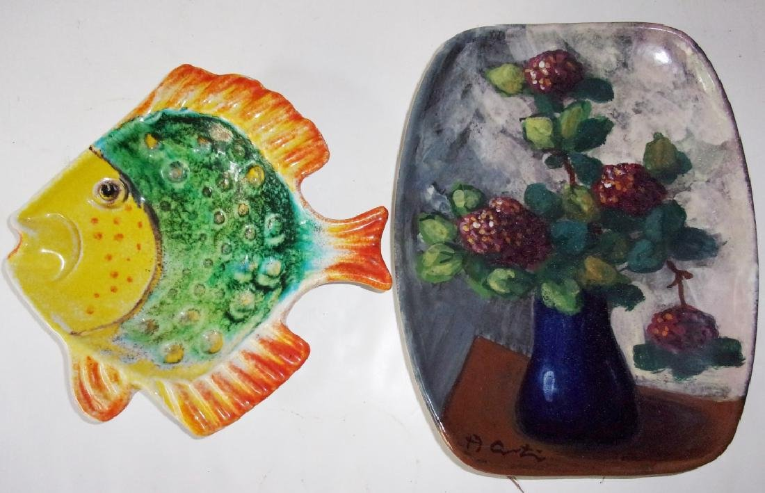 4 contemporary decorative platters - 4
