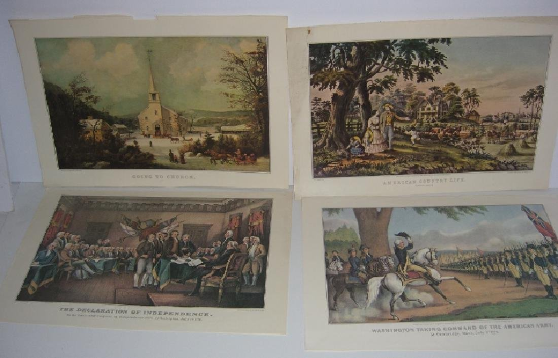 23 Currier & Ives calendar top prints - 2