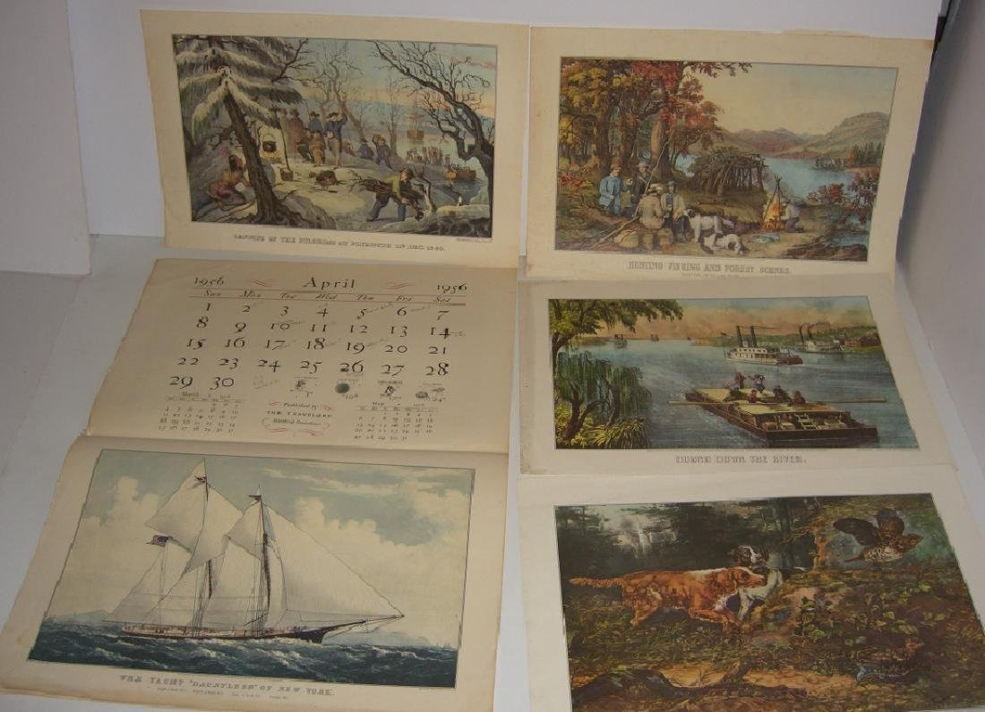23 Currier & Ives calendar top prints - 8