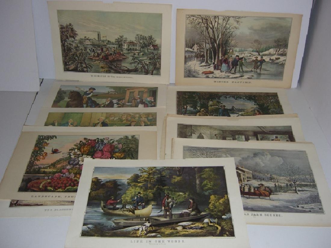 23 Currier & Ives calendar top prints