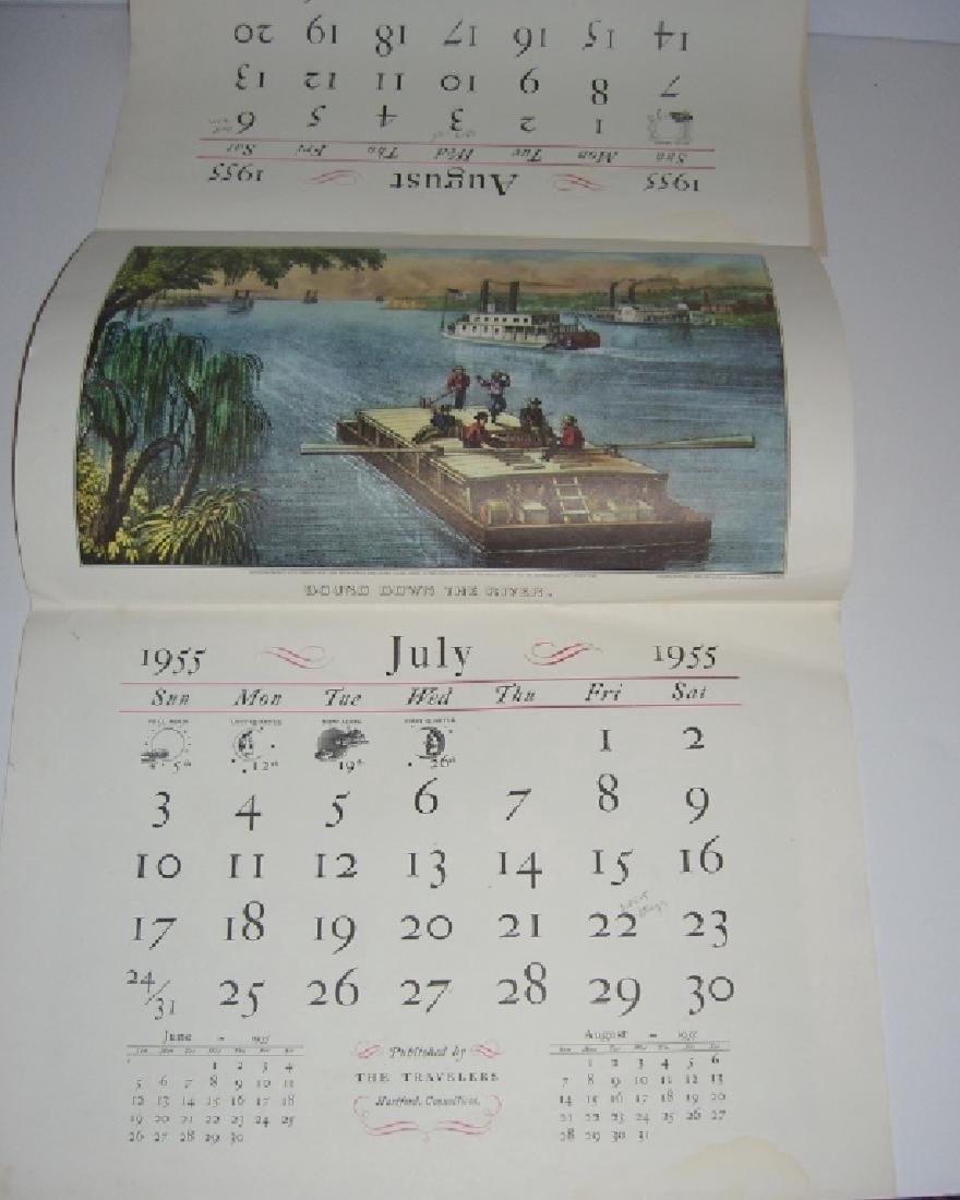 23 Currier & Ives calendar top prints - 2