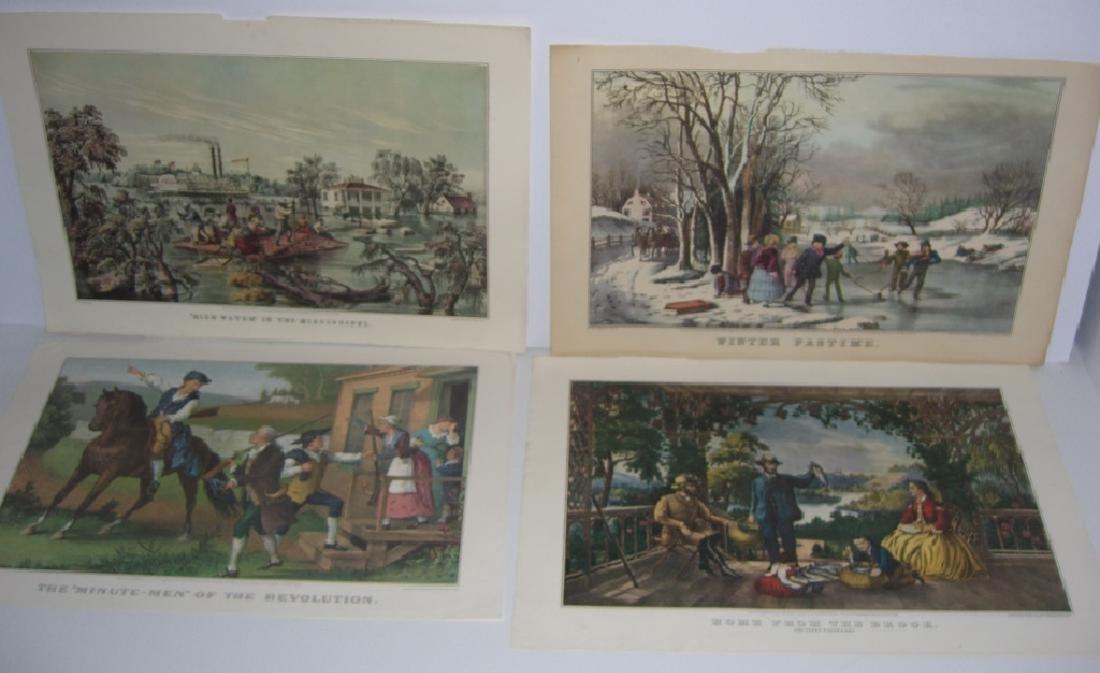 23 Currier & Ives calendar top prints - 3