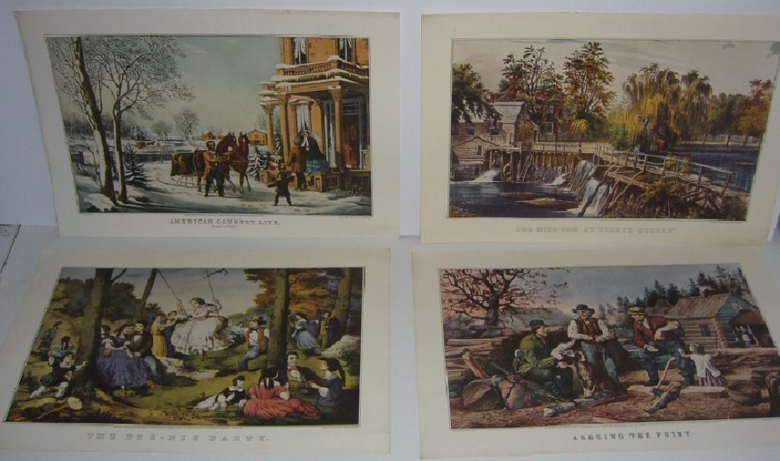 23 Currier & Ives calendar top prints - 7