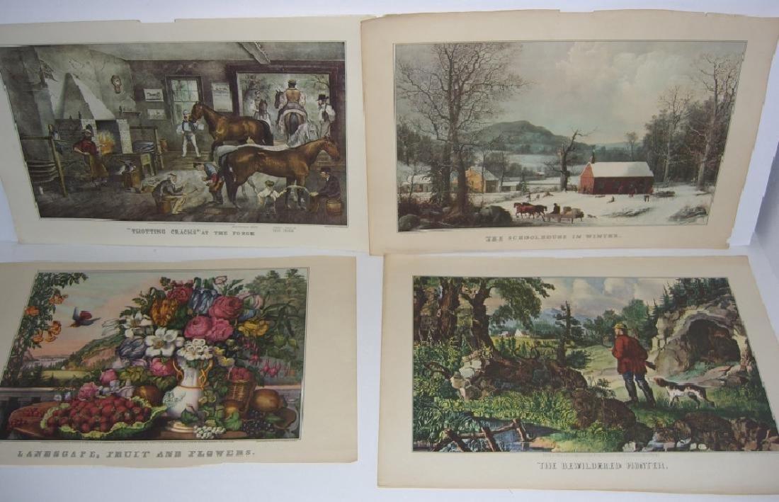 23 Currier & Ives calendar top prints - 8