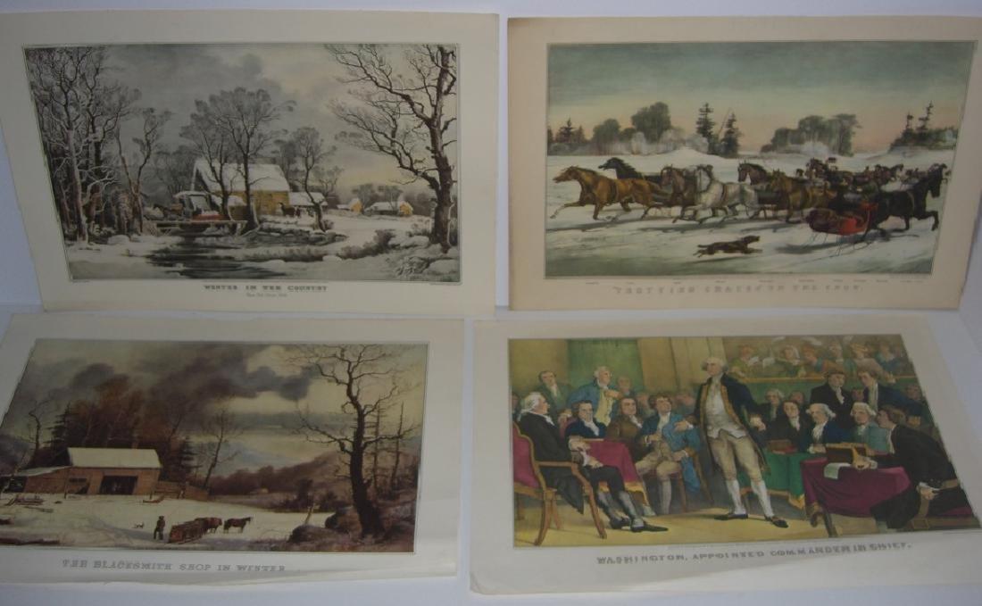 23 Currier & Ives calendar top prints - 9