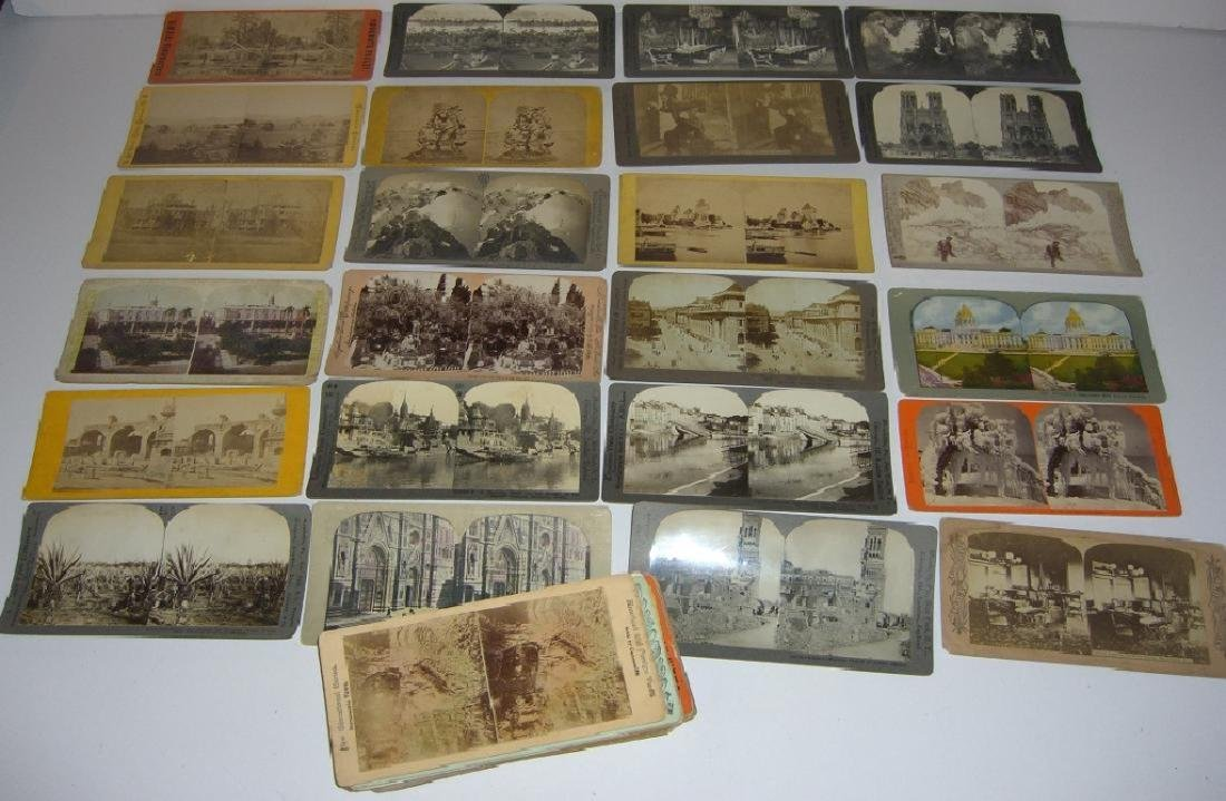 48 Stereoscope view Cards