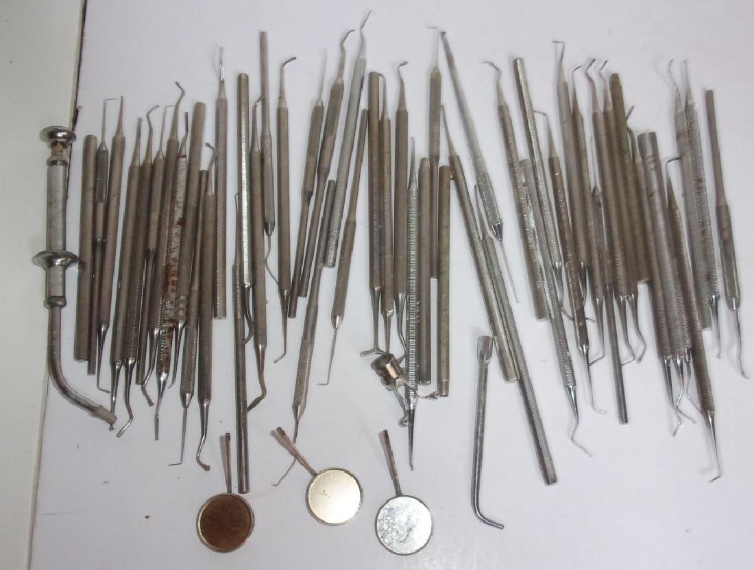 55 pieces of vintage dental tools