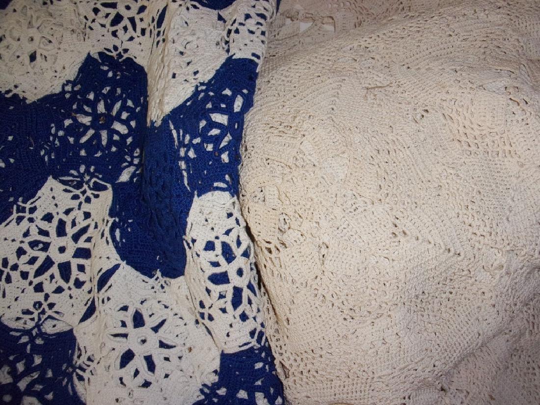 3 crochet table cloths - 3
