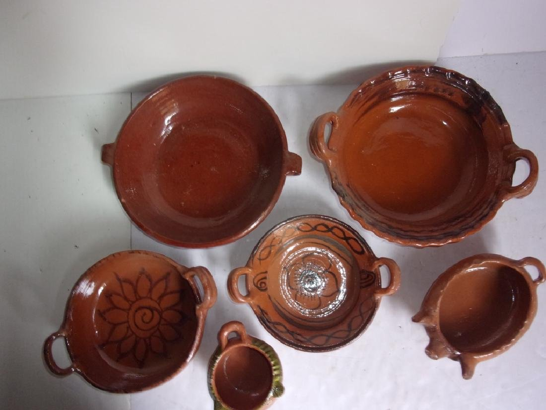 6 piece vintage pottery lot bowls - 4