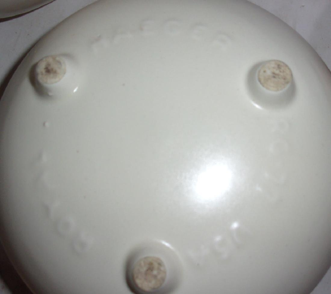 5 mid-century pottery planters - 2