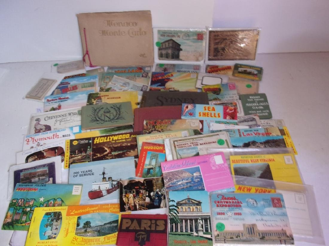 large collection of souvenir postcards