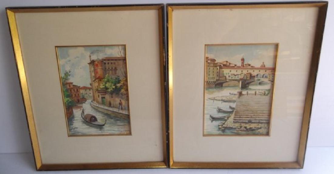 2 Venice scene watercolors