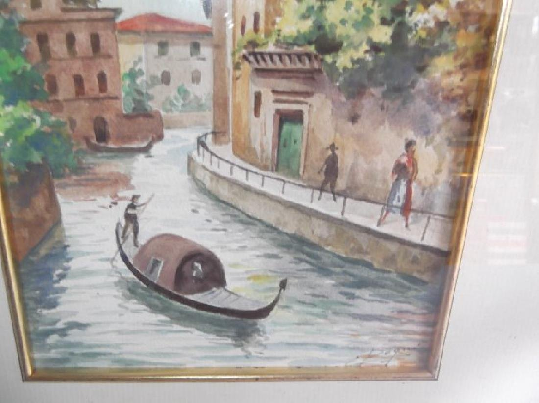 2 Venice scene watercolors - 3