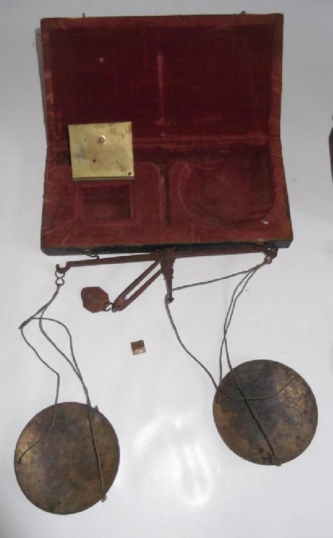 Antique Hand held Pharmacy/apothecary scales - 4
