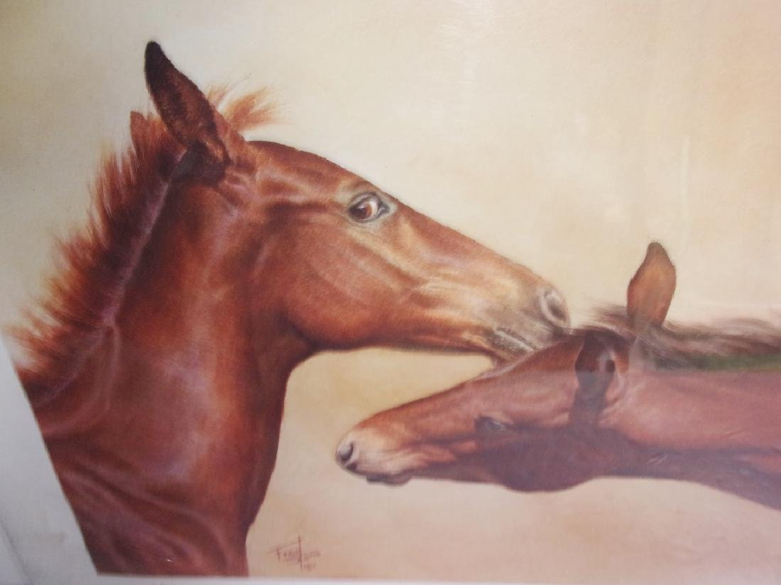 artist proof horse lithograph signed and numbered - 5