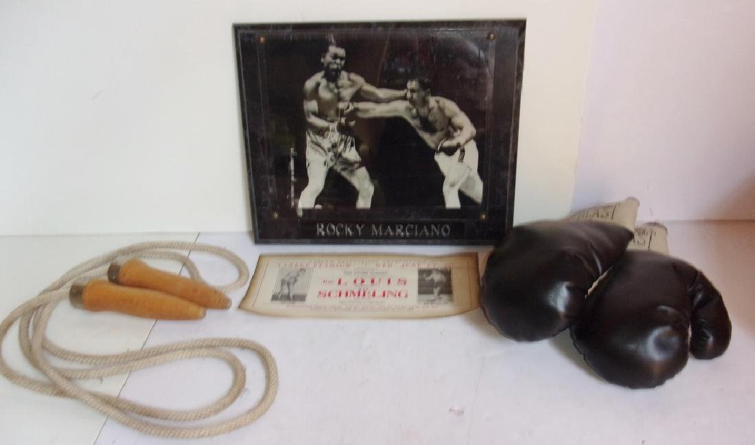 4 piece assorted boxing lot