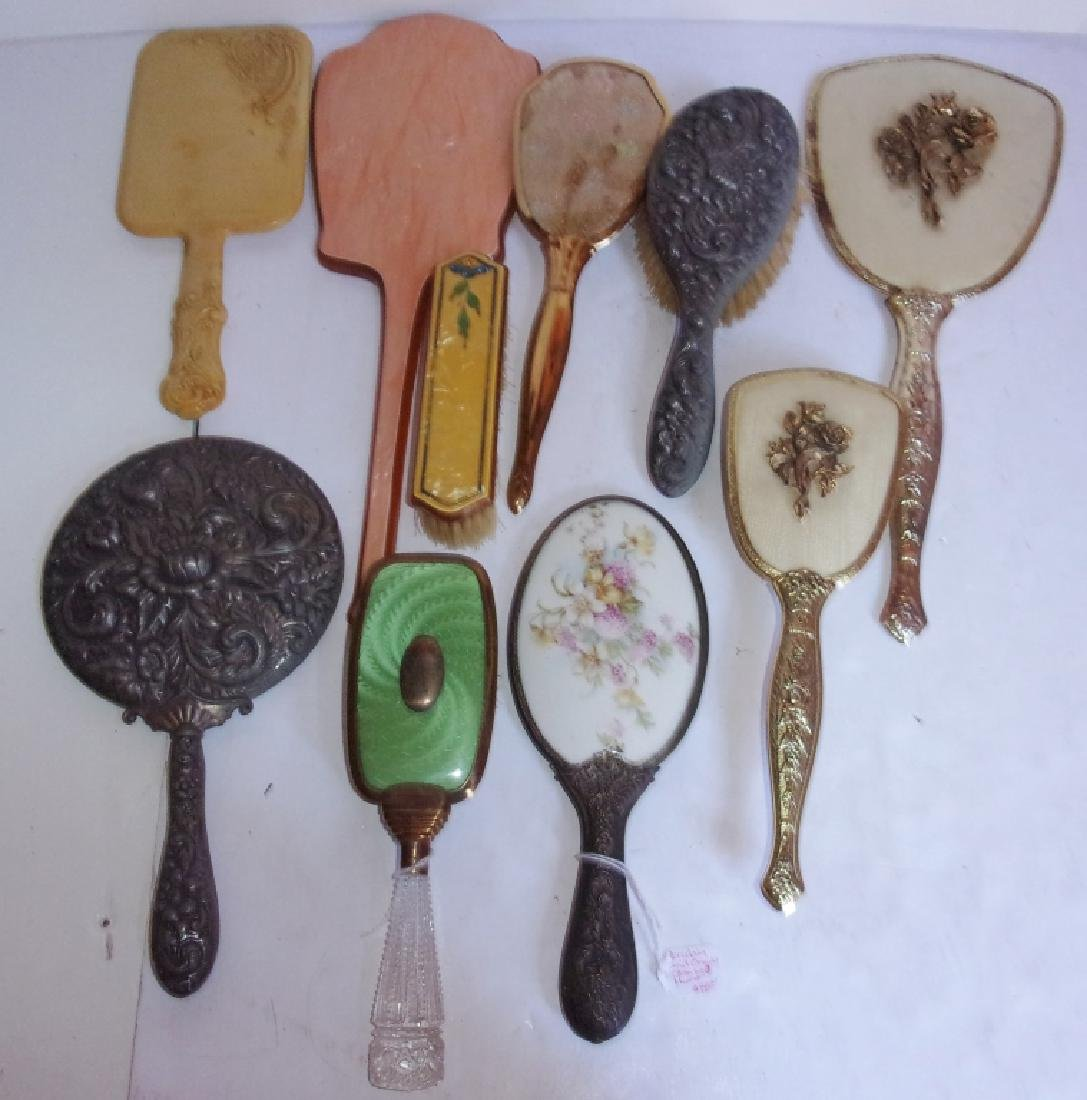 10 antique and vintage mirrors and hairbrushes