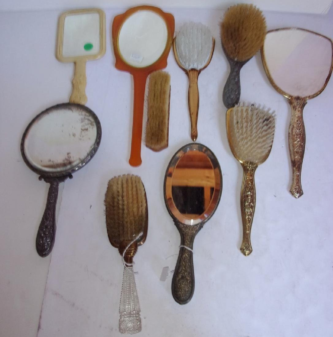 10 antique and vintage mirrors and hairbrushes - 3