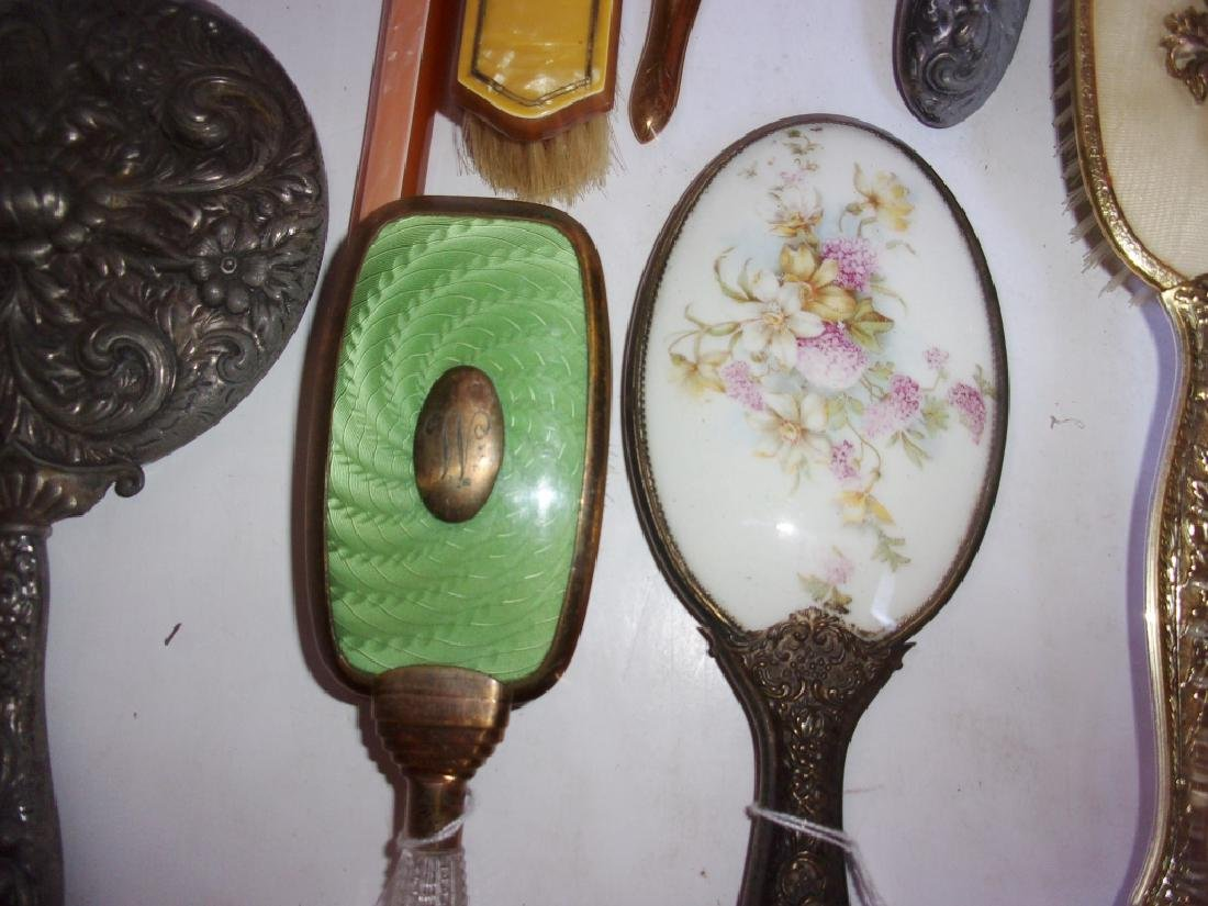 10 antique and vintage mirrors and hairbrushes - 4