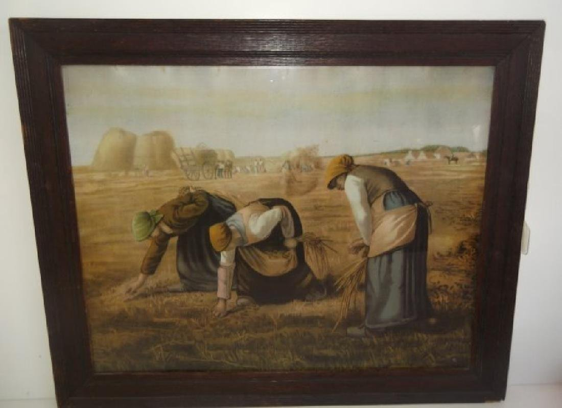 "19th century print  ""The Gleaners"""