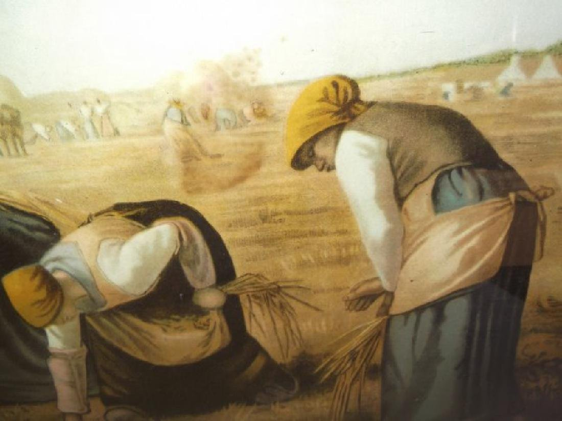 "19th century print  ""The Gleaners"" - 5"