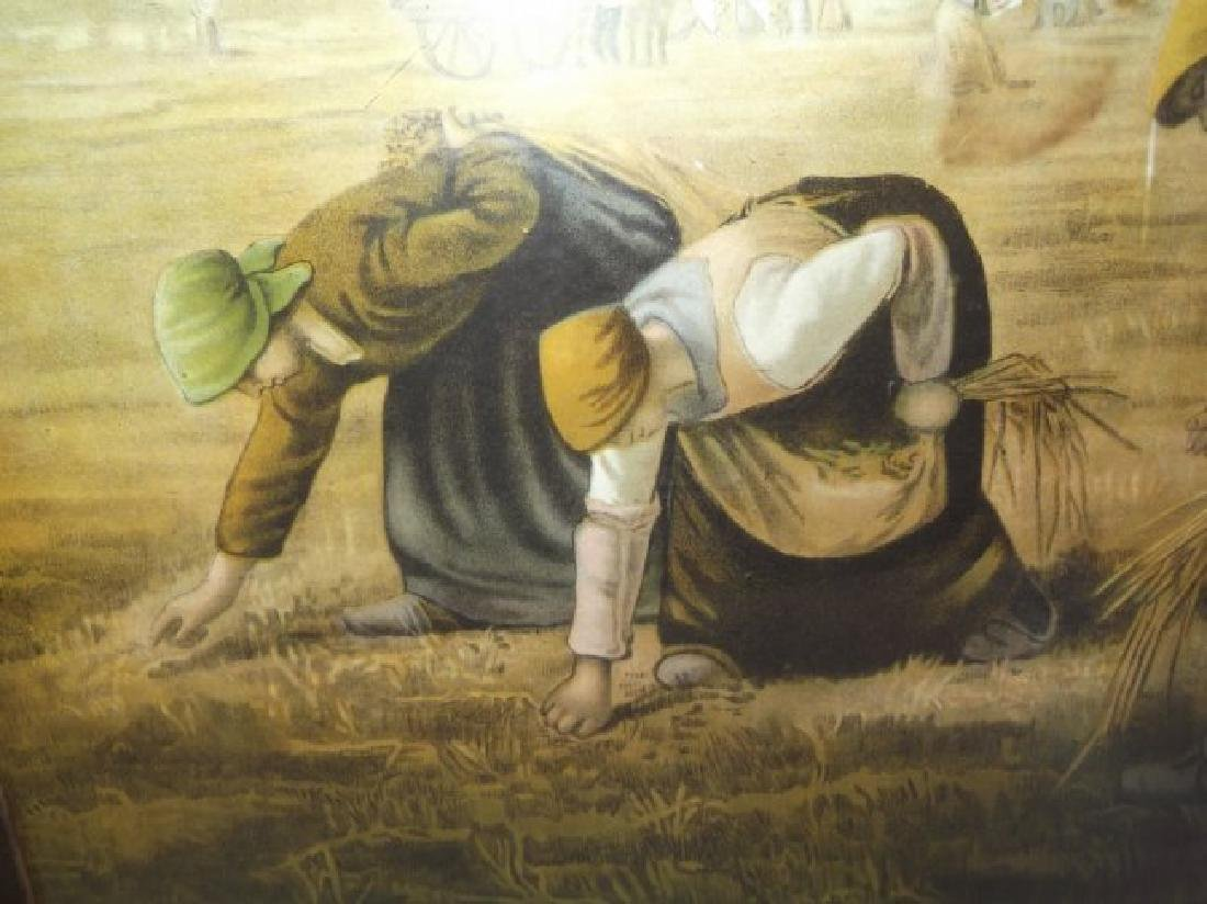 "19th century print  ""The Gleaners"" - 6"