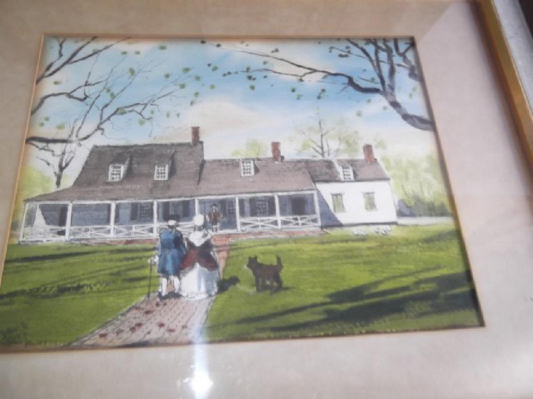 2 house scene watercolors - 2
