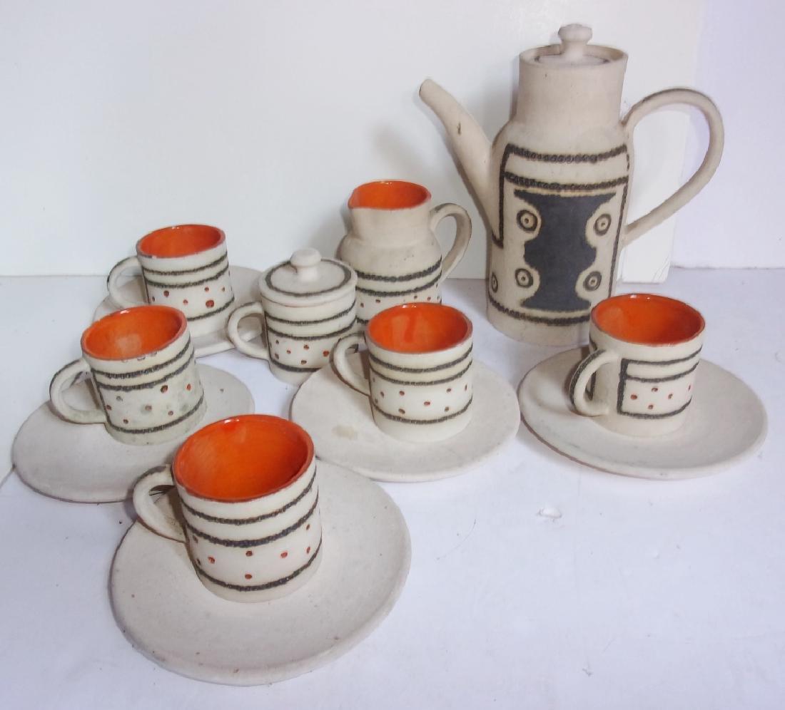 Mid-century Scandinavian  pottery tea set