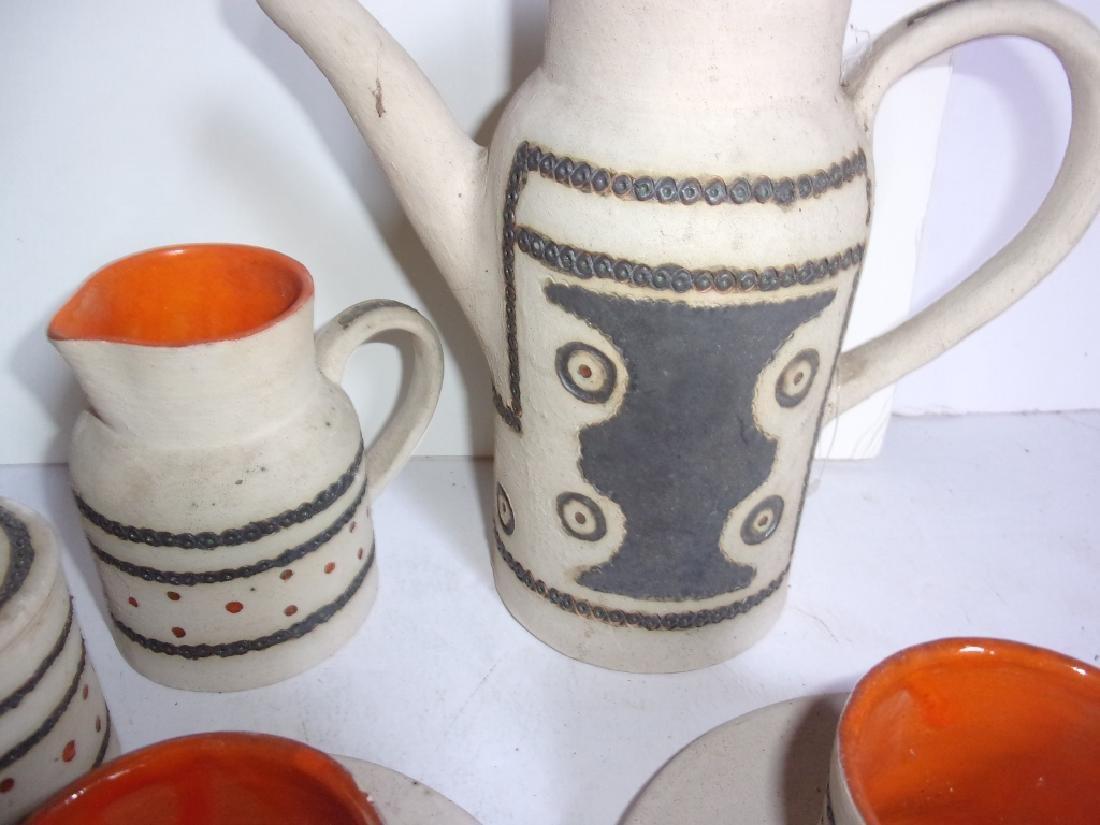 Mid-century Scandinavian  pottery tea set - 2