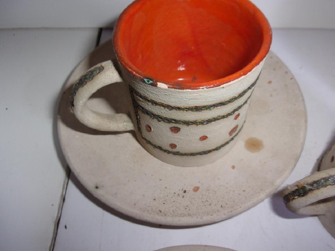 Mid-century Scandinavian  pottery tea set - 3