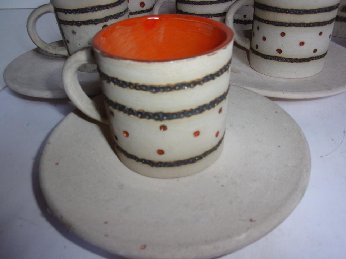 Mid-century Scandinavian  pottery tea set - 4