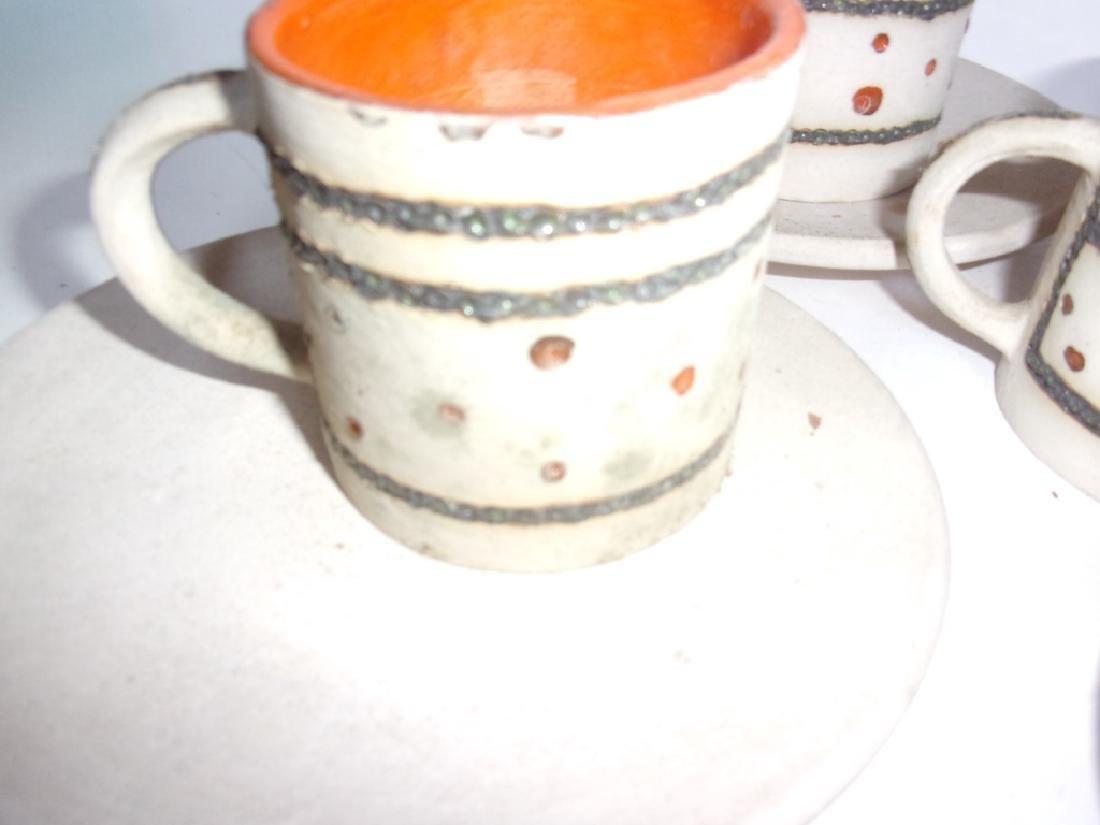 Mid-century Scandinavian  pottery tea set - 5